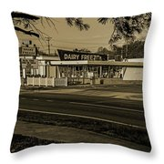 Dairy Freeze Morning Throw Pillow