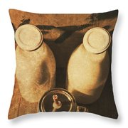 Dairy Nostalgia Throw Pillow