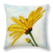 Daises From The Past Throw Pillow