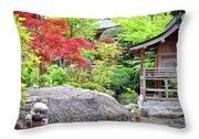 Daisho In Temple Throw Pillow