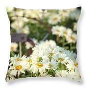 Daisies And A Hand Plow Throw Pillow