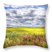 Daisies And Canola Throw Pillow