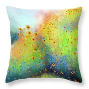 Daisies And Cornflowers Throw Pillow