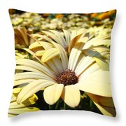 Daisies Flowers Landscape Art Prints Daisy Floral Baslee Troutman Throw Pillow