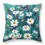 Daisies Golden Eyed Throw Pillow