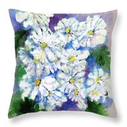 Daisies In Repose Intense Throw Pillow