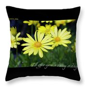 Daisy A Day Throw Pillow