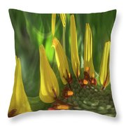 Daisy Abstract 032317-6357-4cr Throw Pillow
