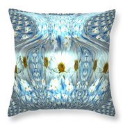 Daisy Abstract Throw Pillow