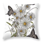 Daisy At Your Feet Throw Pillow