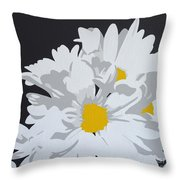 Daisy, Daisy How Does Your Garden Grow...... Throw Pillow