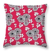 Daisy Flower Bouquet Throw Pillow