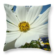 Daisy Flower Garden Artwork Daisies Botanical Art Prints Throw Pillow