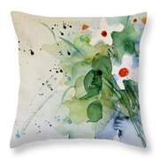 Daisy In The Vase Throw Pillow