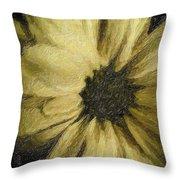 Daisy Luscious Throw Pillow