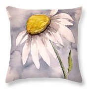 Daisy Modern Poster Print Fine Art Throw Pillow