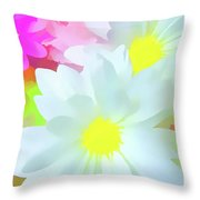 Daisy Poster Throw Pillow