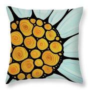 Daisy Throw Pillow by Sharon Cummings