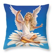 Daisy - Simplify Throw Pillow by Anne Wertheim