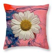 Daisy Swirls 1 Throw Pillow