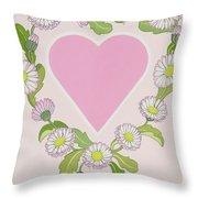 Daisy Valentine Throw Pillow