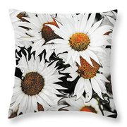 Daisy With A Twist Throw Pillow