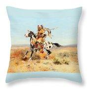 Dakota Chief Throw Pillow