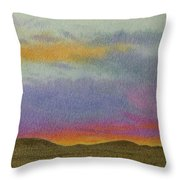 Dakota Sunset Glow Throw Pillow