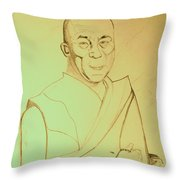 Dalai Lama. Throw Pillow