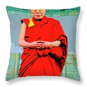 Dalai Lama Throw Pillow