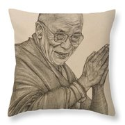 Dalai Lama Tenzin Gyatso Throw Pillow