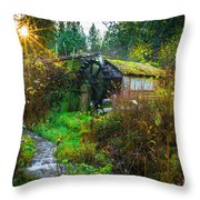 Dalby Waterwheel Throw Pillow