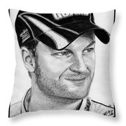Dale Earnhardt Jr In 2009 Throw Pillow