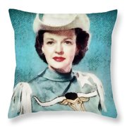 Dale Evans, Vintage Hollywood Star Throw Pillow