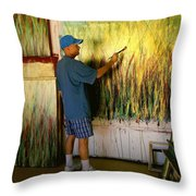 Dale Painting Throw Pillow