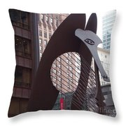 Daley Plaza Picasso Throw Pillow
