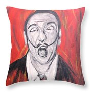 Dali In Hell Throw Pillow