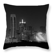 Dallas Bw Throw Pillow