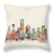 Dallas City Throw Pillow