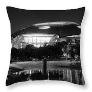 Dallas Cowboys Stadium Bw 032115 Throw Pillow