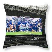 Dallas Cowboys Take The Field Throw Pillow