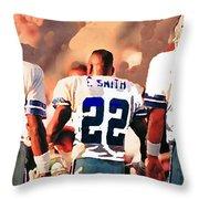 Dallas Cowboys Triplets Throw Pillow