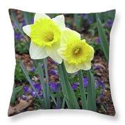 Dallas Daffodils 78 Throw Pillow