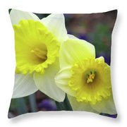 Dallas Daffodils 79 Throw Pillow