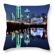 Dallas Dark Blue Night Throw Pillow