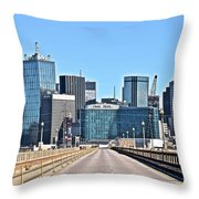 Dallas In The Rear View Throw Pillow