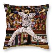 Dallas Keuchel Baseball Throw Pillow