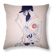 Dallas Keuchel Give Thanks Throw Pillow