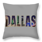 Dallas Letters Transparency 013018 Throw Pillow