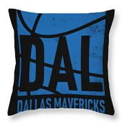 Dallas Mavericks City Poster Art Throw Pillow